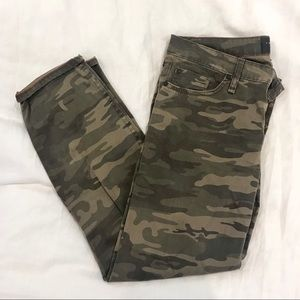 Sanctuary Cropped Denim Camo Pants